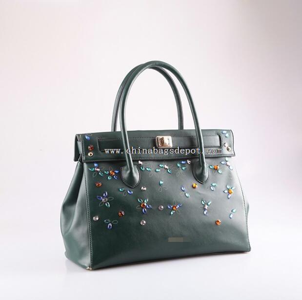 Crylic diamond ladies big handbags