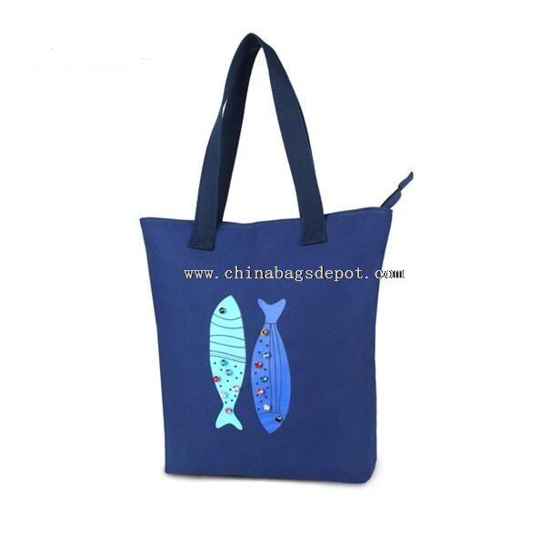 Dark blue shopping bags
