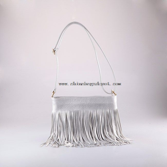 Designer tassel shoulder bag
