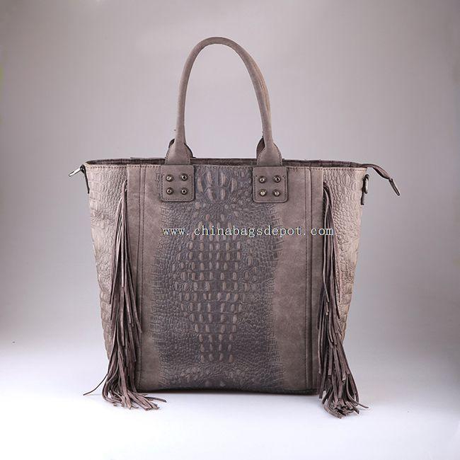 Exotic snake skin handbag