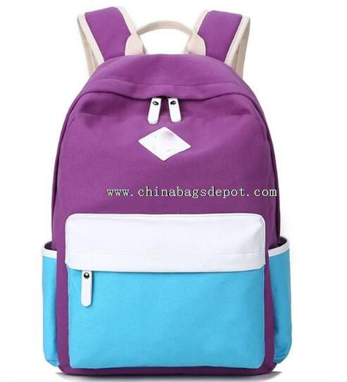 Fashionable Color Life Canvas Backpack