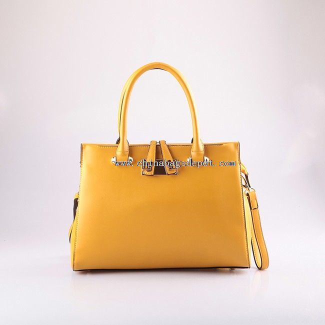 Ladies satchel hand bag with long shoulder strap