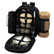 2 Person Picnic Backpack with Cooler images