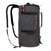 Multifunctional cylinder travelling canvas laptop backpack images