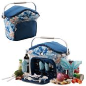 Picnic Cooler Basket for 4 Persons images