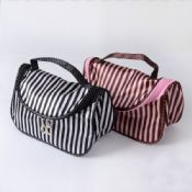 Pink Stripe Cosmetic Bag images