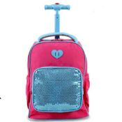 School trolley backpack bag with wheels images