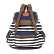 Stripe canvas backpack images
