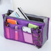 Travel toiletry bag with dual compartments images