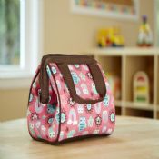 Zipper closure PEVA lining durable insulated lunch bag images