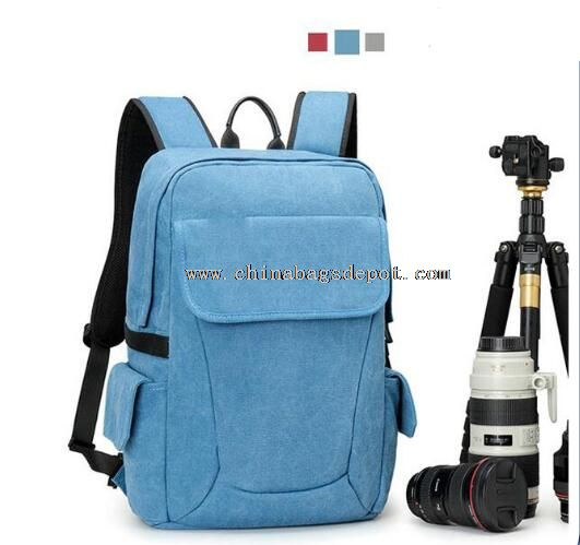 Outdoor Canvas Camera Backpack For Travel