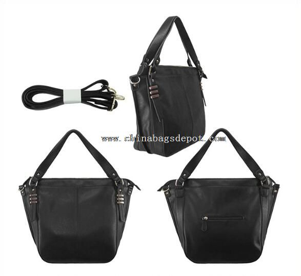 PU Shopping Bag With Detachable Strap