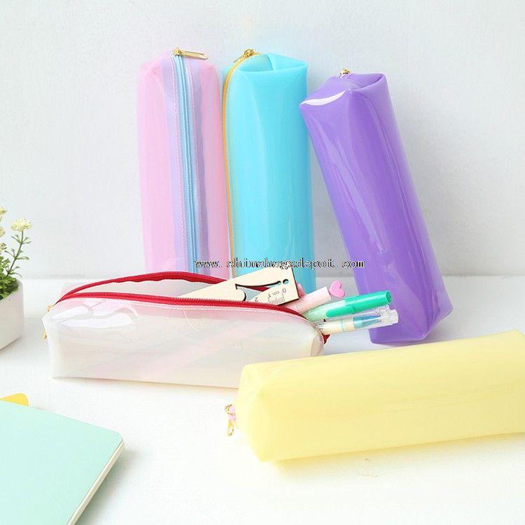 Silicone pencil bags