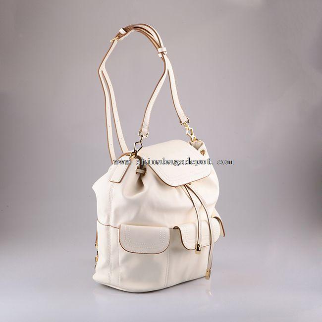 Summer Drawstring Leather Backpack for Girls