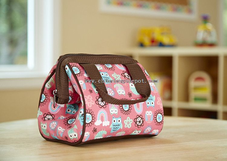 Zipper closure PEVA lining durable insulated lunch bag